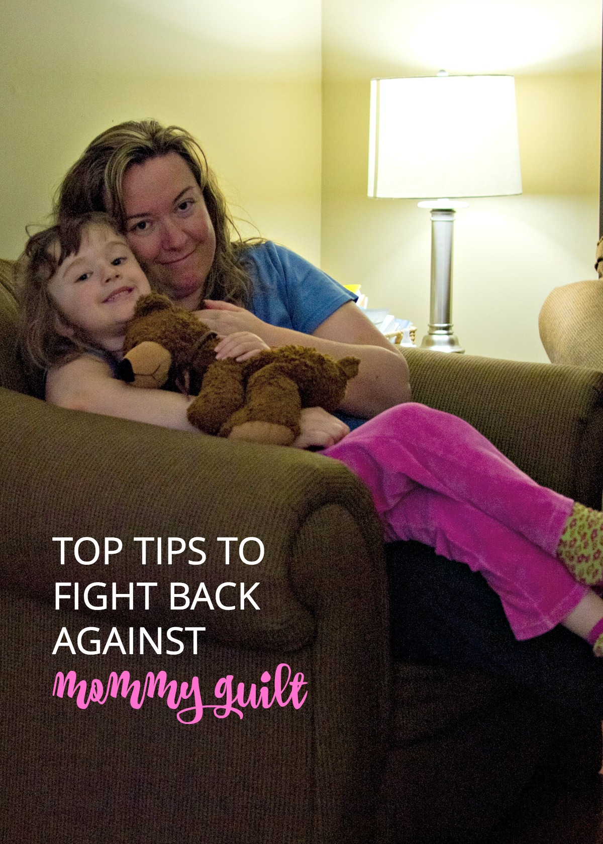 Fighting mommy guilt is tough, but not impossible. See how we take on the beast—and you can, too!