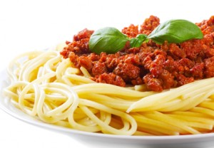 Pasta with meat sauce is quick and easy to make from scratch.