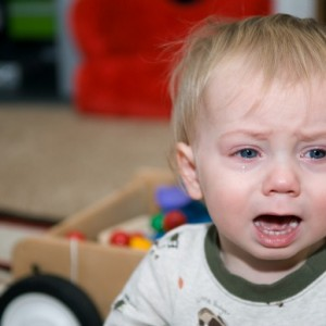 Baby crying at daycare