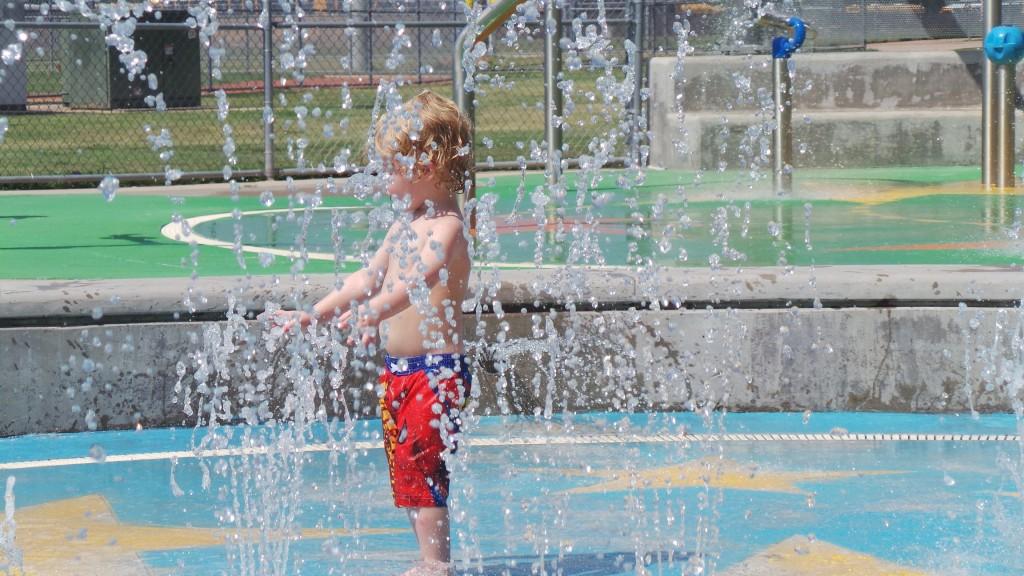 Playing at Splash Pad