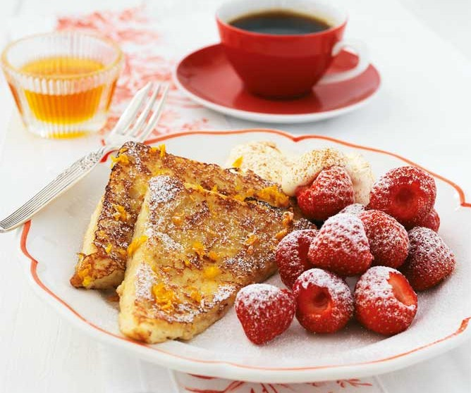 French Toast with Strawberries recipe, plus three more quick, easy and healthy recipes for kids.