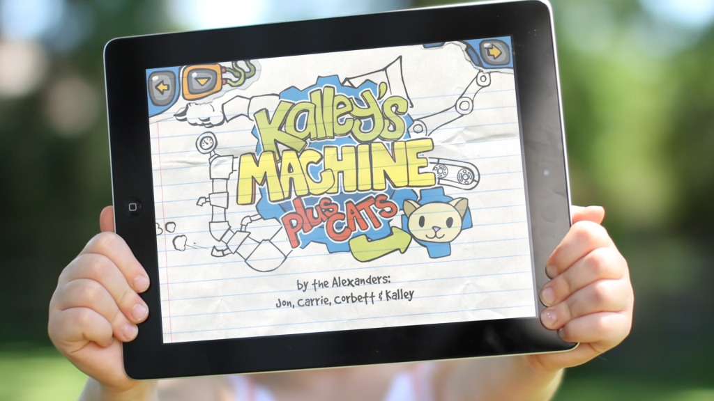 Based on a true story of childhood optimism, Kalley's Machine Plus Cats is the super-fun interactive story about a 4-year-old girl's drawing and her heartwarming plan to save her dad from his daily commute.
