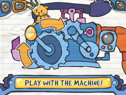 Kalley's Machine was crafted with interactivity as the first priority. Satisfyingly touchable controls put kids in charge of each twist and smash of the machine.
