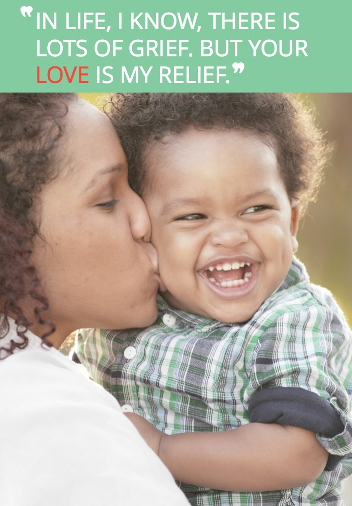 When the going gets tough as a parent, bask in the love your child gives you every day. It helps.