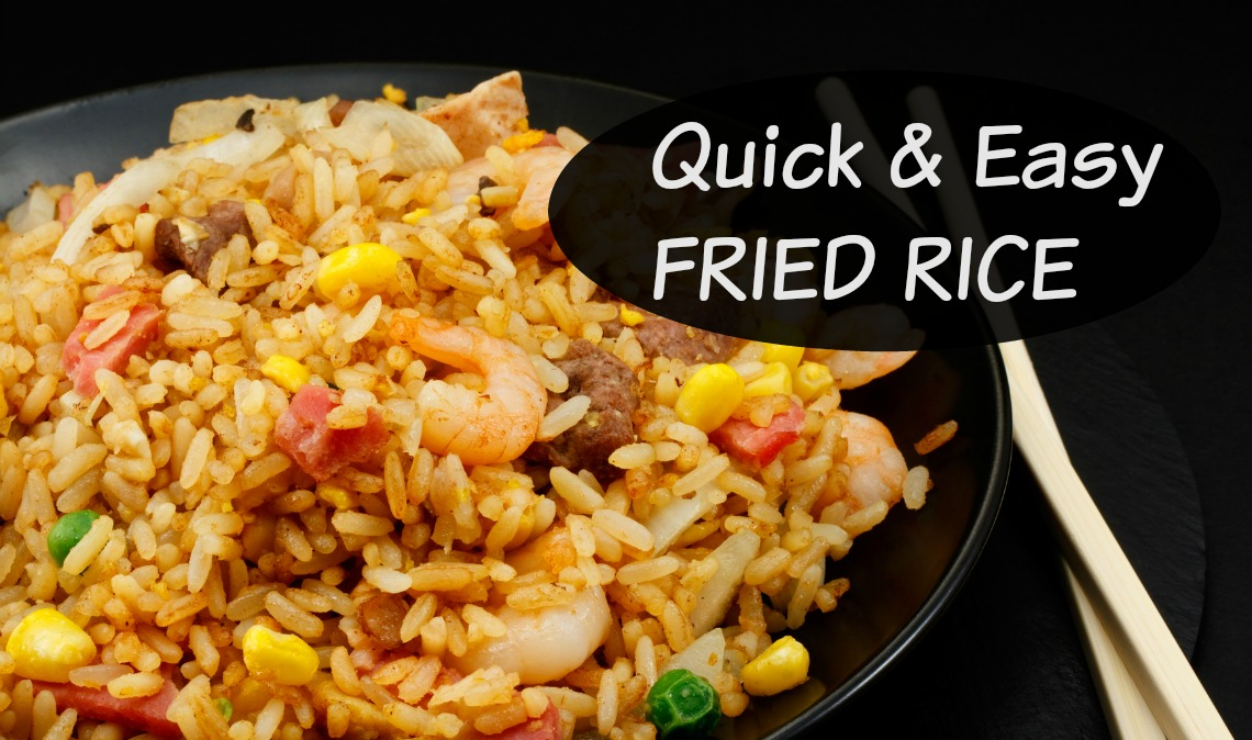 Finally, I found the perfect fried rice recipe! This one is easy to whip up for dinner, can incorporate leftovers, and helps you sneak in veggies.
