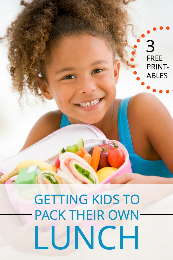 Tired of being the family lunch maker-in-chief? Here's a surefire plan to get your kids to pack their own lunches and have fun doing it (FREE printables).