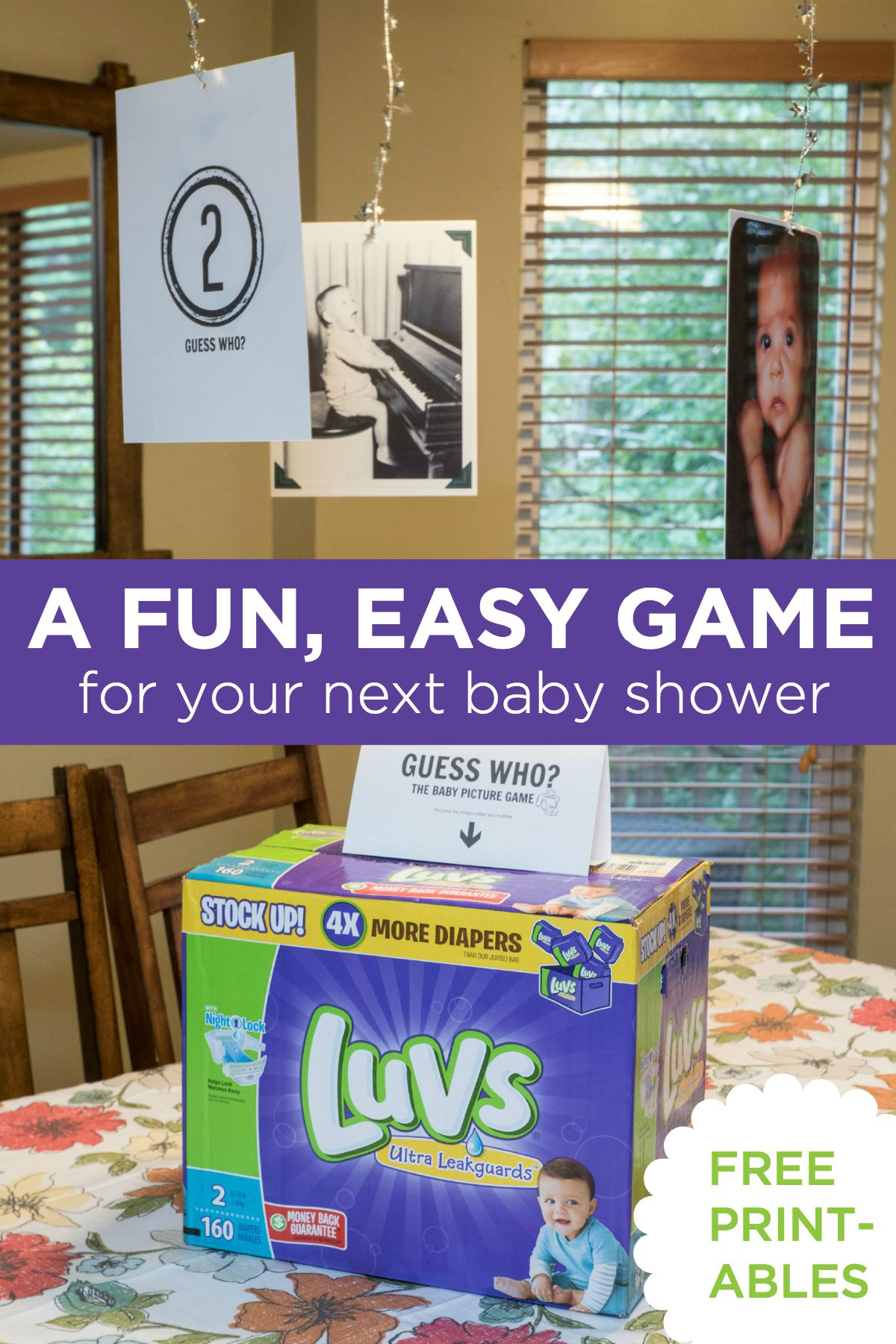 Looking for baby sprinkle game ideas? Here's one that's fun to play, easy to plan, and leaves behind a nice gift for Mom. Step-by-step and free printables!