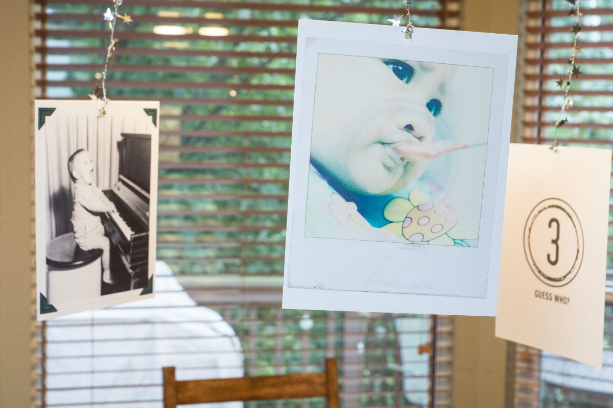 Hang up baby photos of your shower guests, and they can multitask as party decorations, a fun game, and thoughtful leave-behind gift for the mom-to-be.