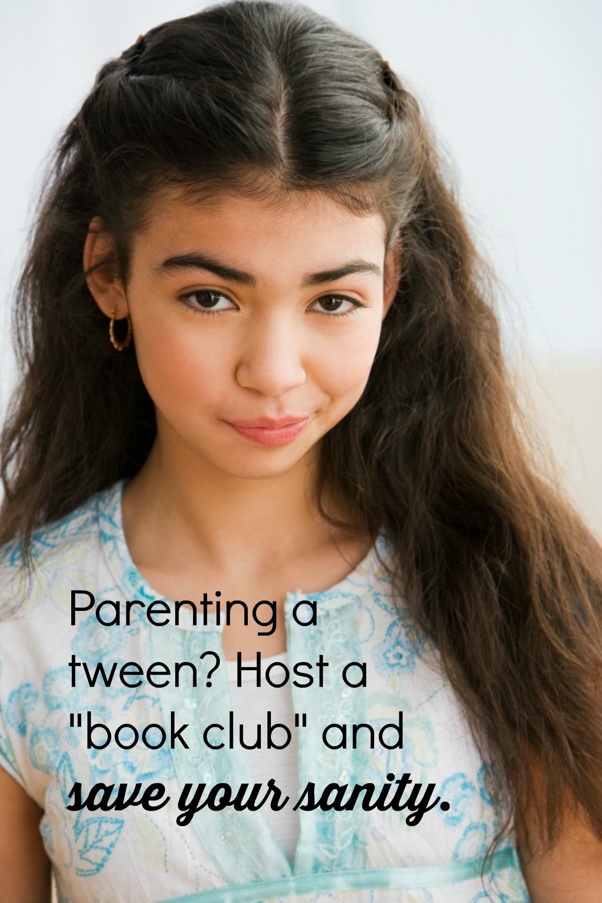 "Parenting tweens can be rough. A ""book club"" can help save your sanity."