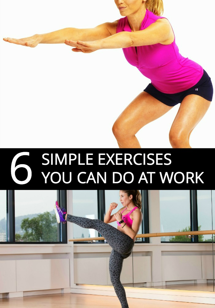 Trying to maintain your weight? Get in some easy exercises while you're in bathroom or at your desk.