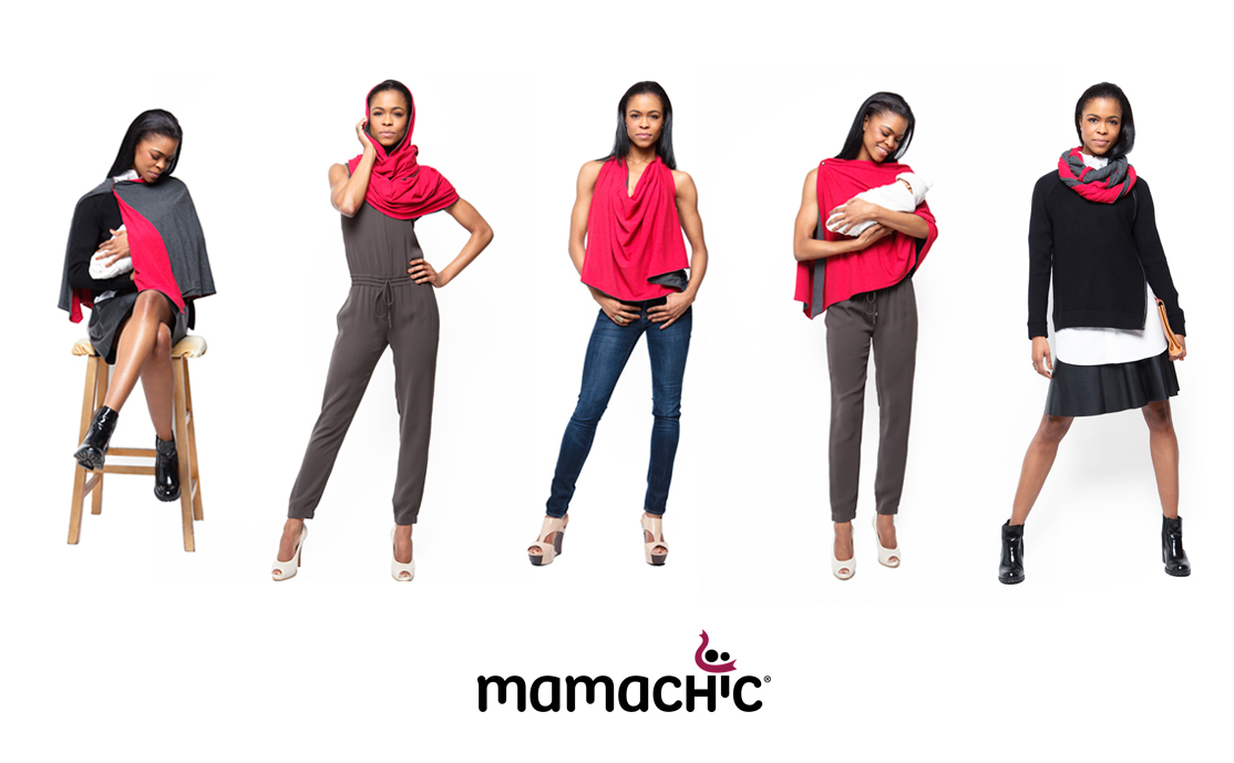 The Mamachic scarf is a fashion accessory, burping cloth and nursing coverup all in one