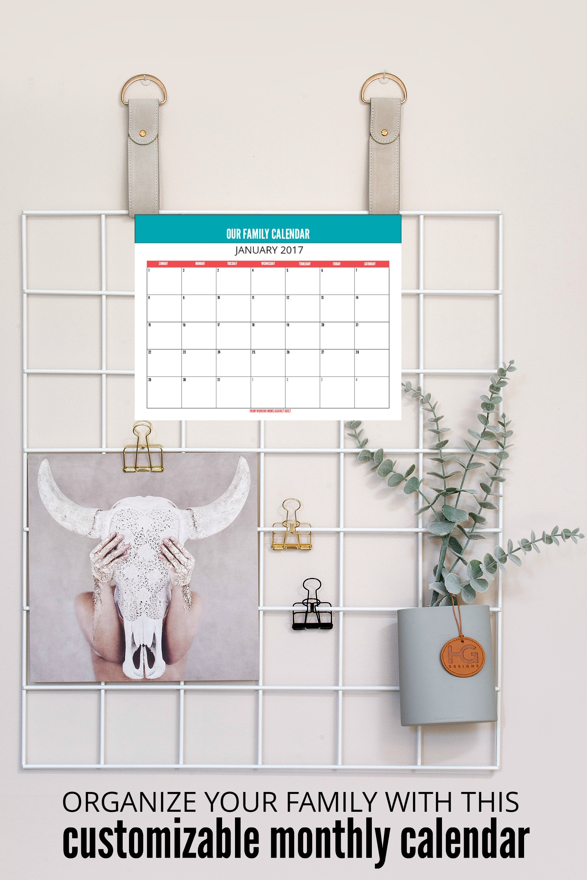 Crazy family schedule? Tame it with this printable editable monthly calendar. It's like a central hub where everyone can see what's coming up at a glance.