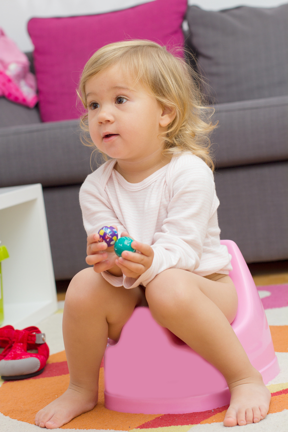 Working moms have an advantage when it comes to potty training. Childcare professionals can help you! But when you work from home -- that's another story.