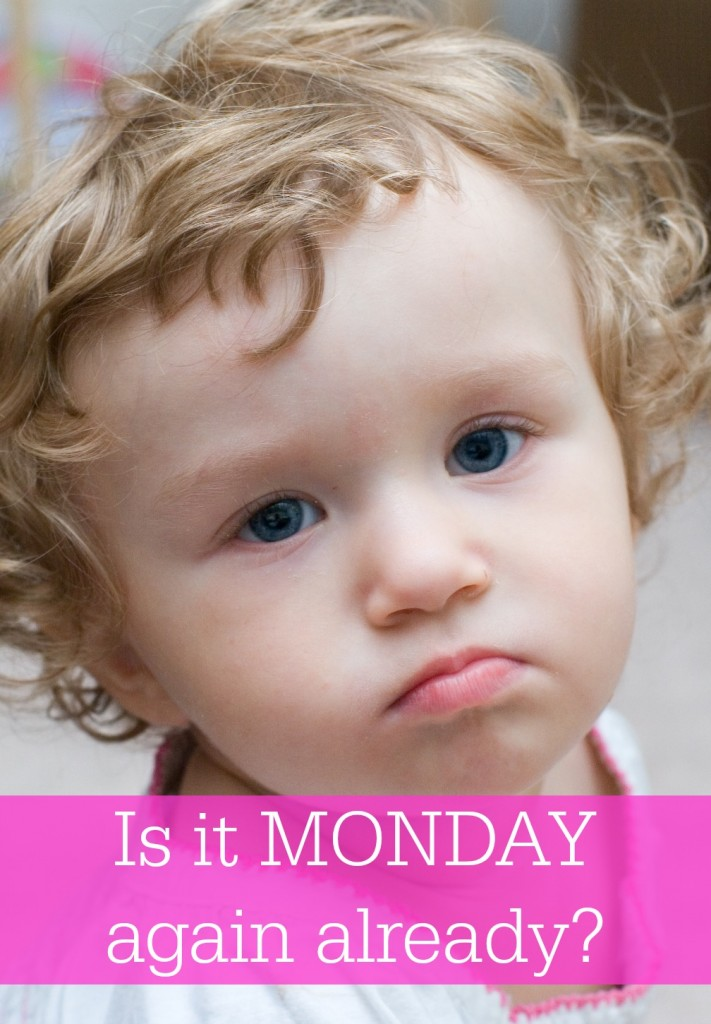 Why does Monday seem to be so hard for working moms? Especially when you leave little ones behind for a stressful day at the office. What can you do?