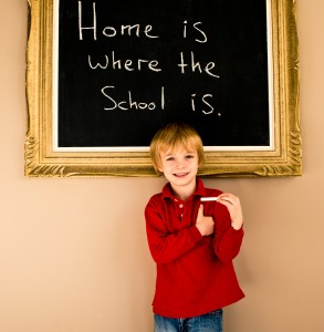 Home is where the school is.