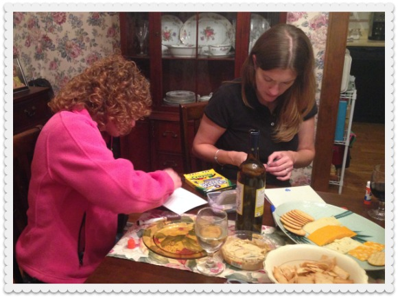Busy getting our craft on with card-making.