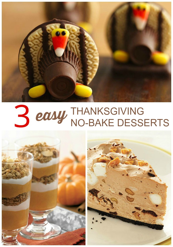 The holidays definitely can take over your kitchen. Here are three recipes for delicious, no-bake desserts that will free up much-needed space in your oven.