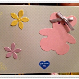 One of the handmade cards Working Moms Against Guilt created for moms in need.