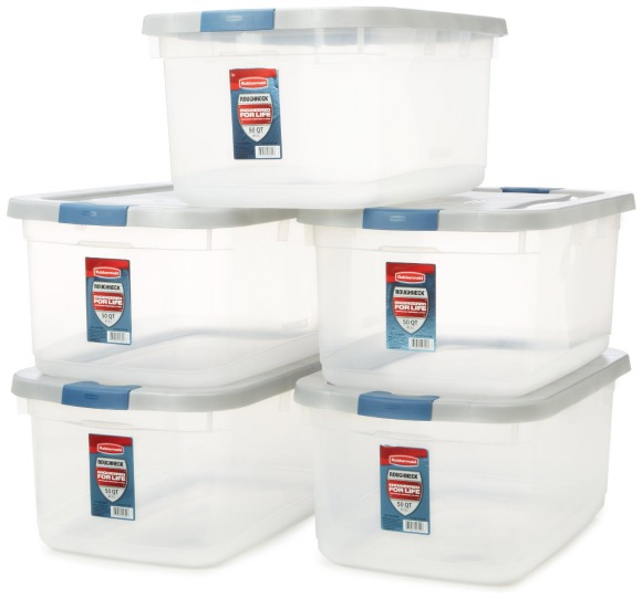 Avoid randomly buying storage containers to hold things you don't use or need. It just adds to the clutter. And, those containers take up space.