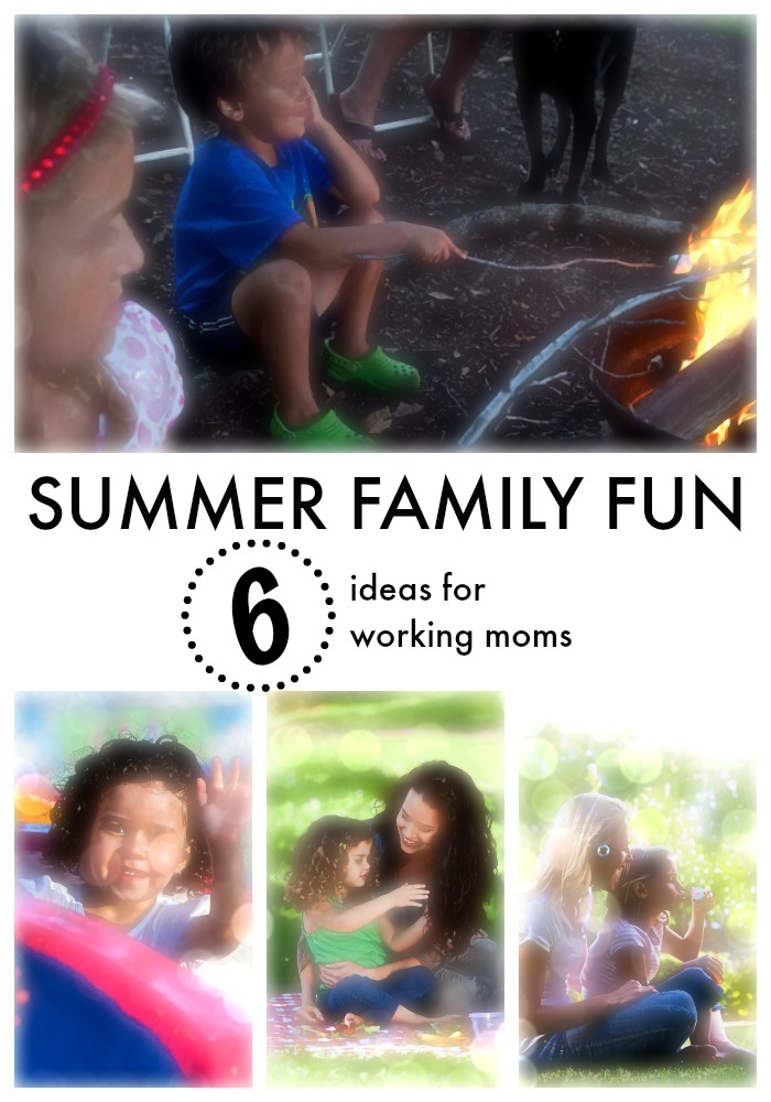 Our top six ideas for working moms to enjoy summer with your children.