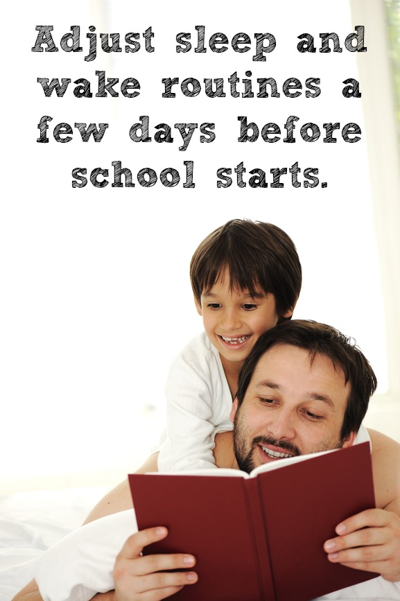 Make it easier on you and the kids by gently transitioning from summer to school schedules. Click for more back to school tips.