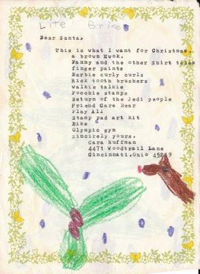 Cara's old-school Christmas wish list