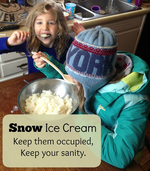 Life Gives You Snow Days? Make Snow Ice Cream!