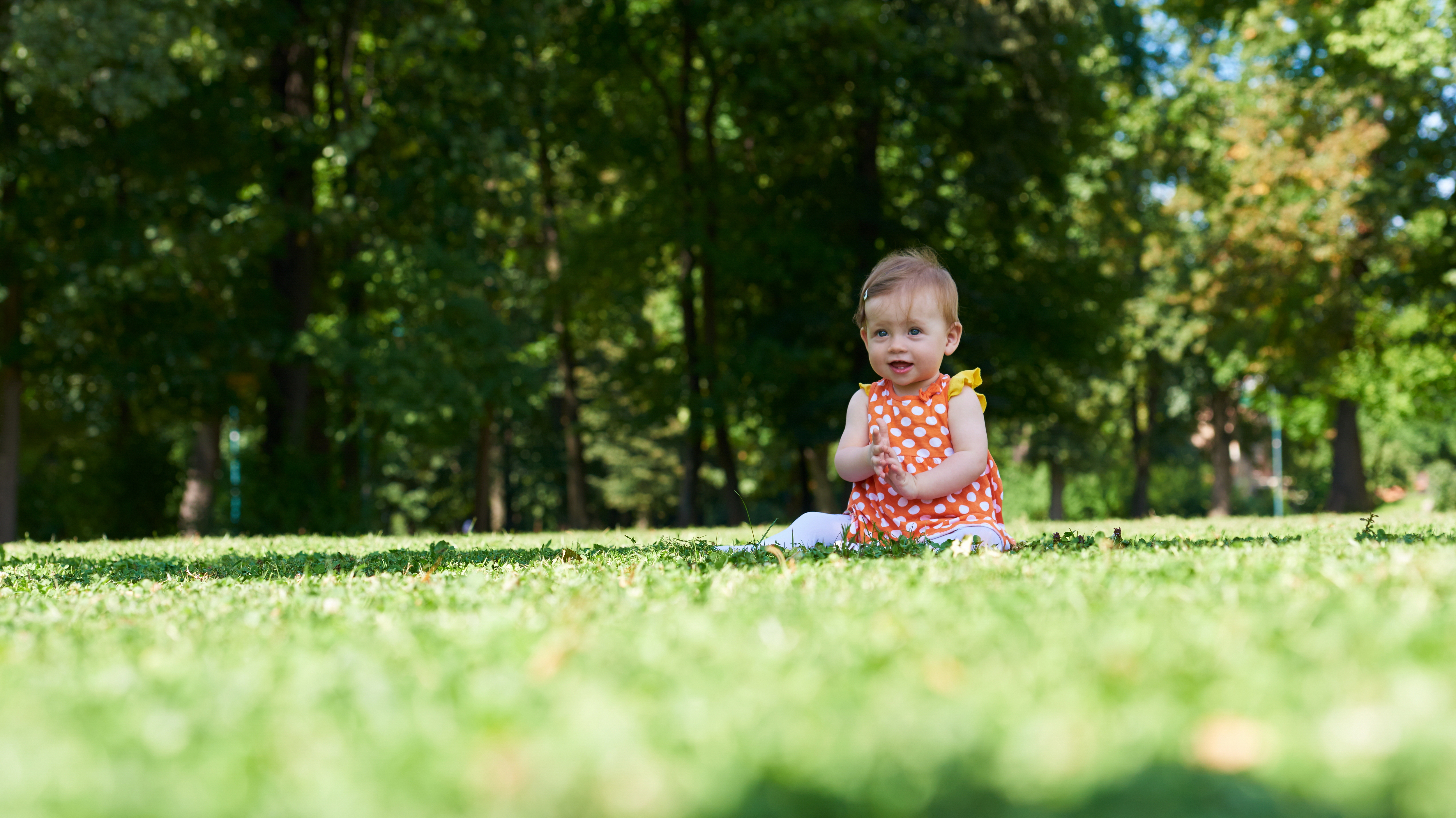 baby in park