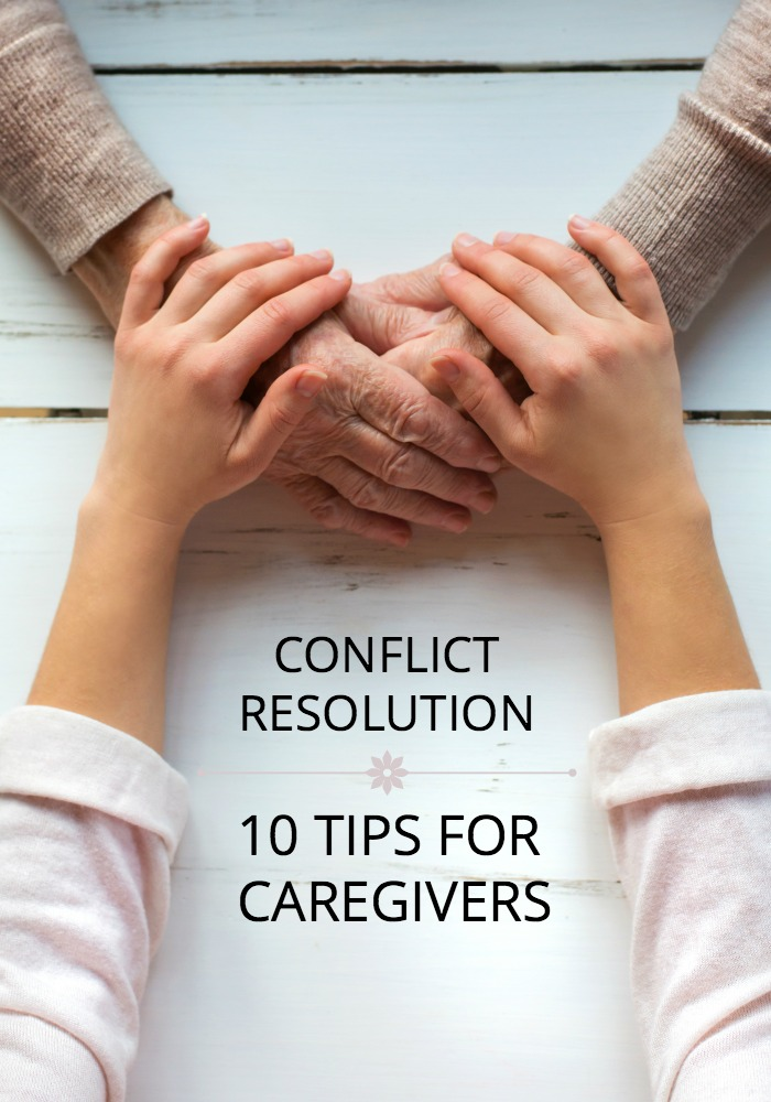 If you're in a caregiver role for someone in your family, conflicts inevitably arise. See what an expert suggests for peacefully resolving caregiver conflicts.
