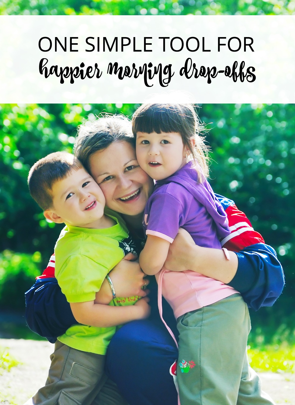 Does your morning drop-off at daycare or school result in clinging or crying? Try this simple way to empower your kids and experience a happier morning for all.