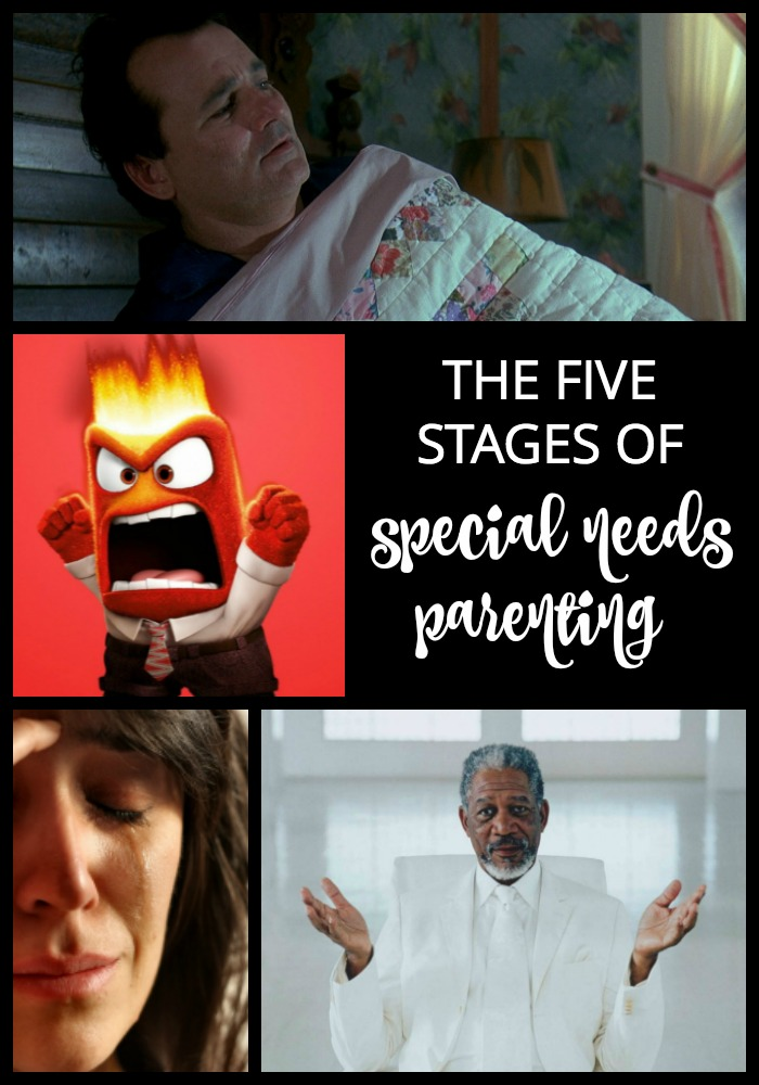 You go through your own five stages of grief when you're parenting a child with special needs. From denial to acceptance, here's what the stages feel like for one working mom.