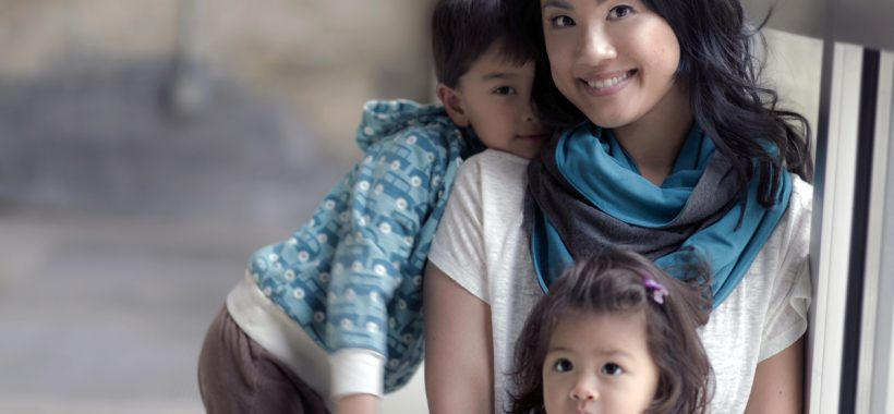 Mamachic founder and mompreneur Angela Tsai with her children