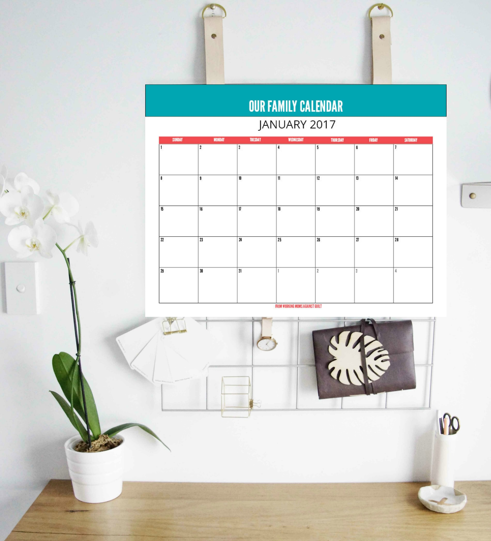 Printable Editable Monthly Calendar to Keep Your Family on the Same Page