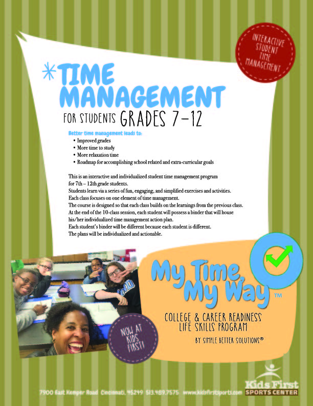 My Time, My Way™ for Students is a college and career readiness interactive student time management program. Read on for more details.